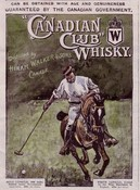 Canadian Club Whisky Polo Advert SOLD