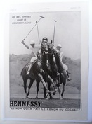 Hennessy Cognac 1930s Polo Advert -SOLD