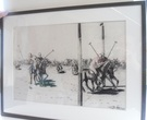 Pair of Charcoal Polo Drawings - Image 1