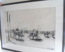 Pair of Charcoal Polo Drawings - Image 3