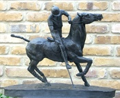 The Polo Player Sculpture - Bronze