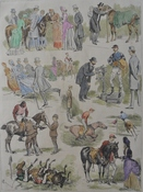 Sketches at the Polo Pony Races at Hurlingham 1883